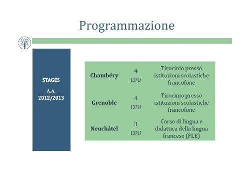 presentazione STAGES CURRICOLARI - Università della Valle d ...