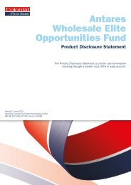Colonial First State Wholesale PM Capital Australian Share Fund
