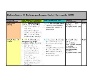 MA 4-sem Modulhandbuch 0807\374 - European Studies