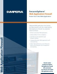 SecureSphere® Web Application Firewall - Exclusive Networks