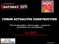 Forum Actualités Construction - Agence Qualité Construction