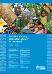 WHO Multi-Country Cooperation Strategy for the Pacific 2013–2017