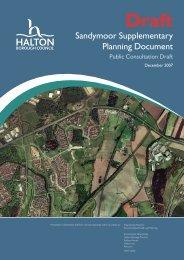 Appendix 1 Sandymoor SPD - Halton Borough Council