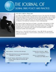 volume 1, issue 4 - The Institute on Global Drug Policy
