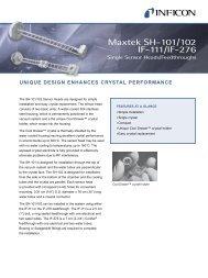 Maxtek SH-101/102, IF-111/IF-276 Single Sensor Heads ...