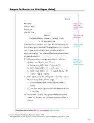Sample Outline For An MLA Paper Orlov