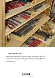 Factsheet Facility & Mobility Services - Lernwerk