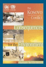 Consequences for the Environment & Human Settlements