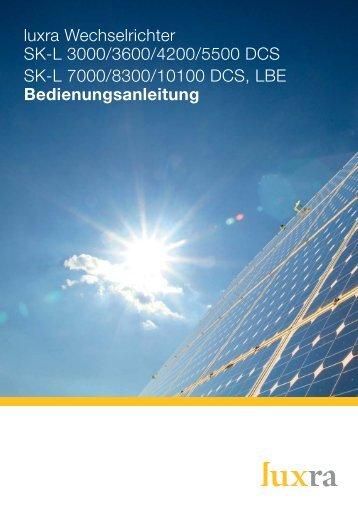 Montage- und Bedienungsanleitung DE - SOLARKAUF