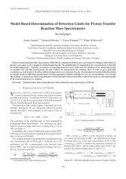 Model Based Determination of Detection Limits for Proton Transfer ...