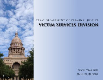 Victim Services Division FY 2012 Annual Report - Texas Department ...