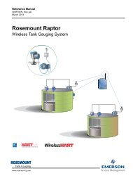 Rosemount Raptor Wireless Tank Gauging System - Emerson ...