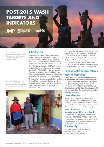 English - WHO/UNICEF Joint Monitoring Programme