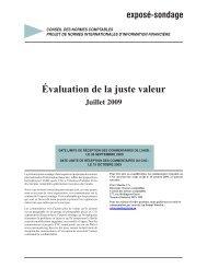 Évaluation de la juste valeur - Normes d'information financière et de ...