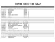 Plan Intersectorial Huelva