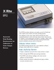 Calibration Software Interface Simple, Step-By-Step Operation - X-Rite