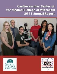 2011 CVC Annual Report (PDF) - Medical College of Wisconsin