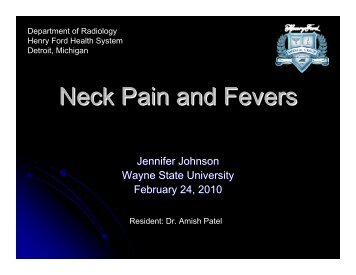Neck Pain and Fevers - Henry Ford Health System