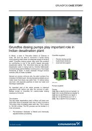 Grundfos dosing pumps play important role in Indian desalination ...