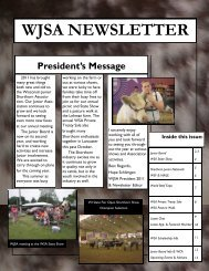 WJSA NEWSLETTER - American Shorthorn Association
