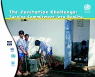 The Sanitation Challenge (WHO) - The Water, Sanitation and Hygiene