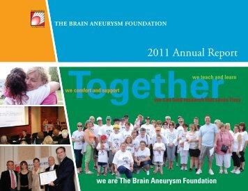 2011 Annual Report - The Brain Aneurysm Foundation