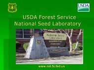 Seed conditioning of understory forbs in the Longleaf Pine ecosystem
