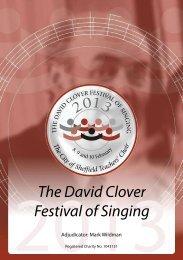 2013 Festival Programme - David Clover Festival of Singing