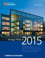 Strategic Vision - University of Leicester