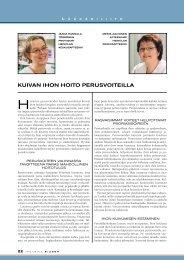 KUIVAN IHON HOITO PERUSVOITEILLA