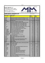 ceník (PDF) - MOTOR MĚLNÍK sro