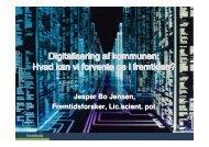 Digitalisering af kommunen - Fremtidsforskeren Jesper Bo Jensen