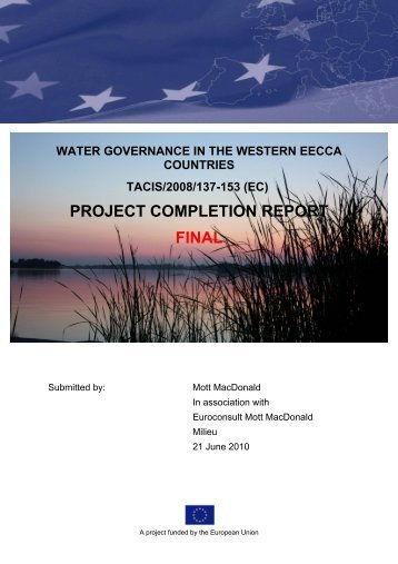 PROJECT COMPLETION REPORT FINAL - Water Governance Project