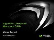 Algorithm Design for Manycore GPUs - GPU Computing Courses