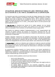 Situación del mercado de trabajo en Jaén - Comisiones Obreras de ...