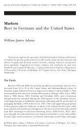 Markets Beer in Germany and the United States - University of ...