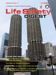 LIFE SAFETY DIGEST Fall/2009 - FCIA - Firestop Contractors ...