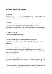 REGLEMENT FOR KONTROLLUTVALGET - Lenvik kommune
