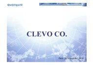 Revenue - Clevo