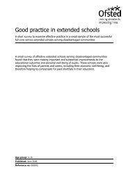 Good practice in extended schools - Digital Education Resource ...