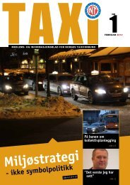 TAXI nr. 1/12 - Norges Taxiforbund