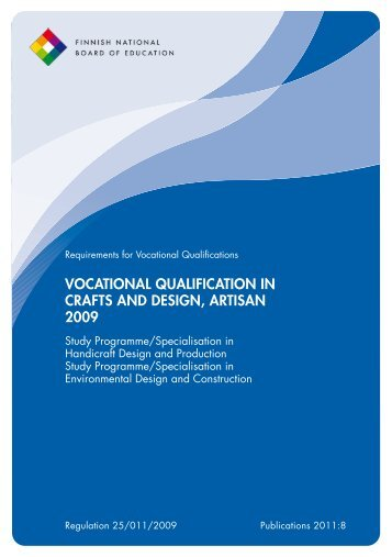 vocational qualification in crafts and design, artisan 2009