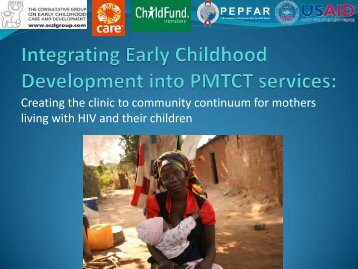 Integrating Early Childhood Development into PMTCT Services