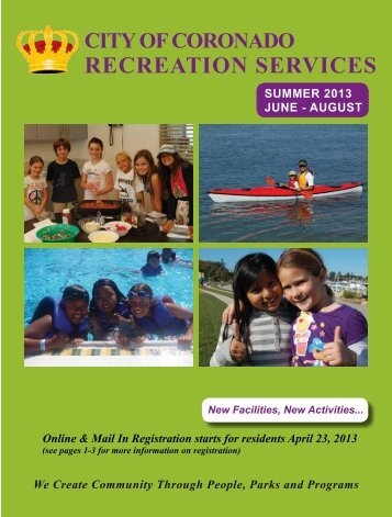 2013 Summer Brochure - City of Coronado
