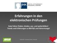 Erfahrungen mit elektronischen Prüfungen - EU-BKF.de