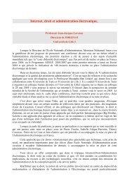 Internet, droit et administration électronique, - Université Lille 2 Droit ...