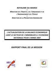 rapport final de la mission - Ministère de l'Habitat, de l'urbanisme et ...