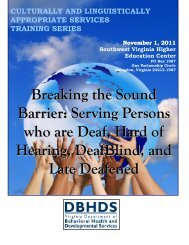 Breaking the Sound Barrier: Serving Persons who are Deaf, Hard of ...