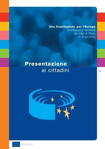 Presentazione ai cittadini - Giuridico - Politico