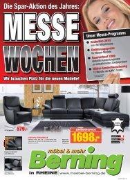Die Spar-Aktion des Jahres: WOCHEN MESSE - Möbel Berning
